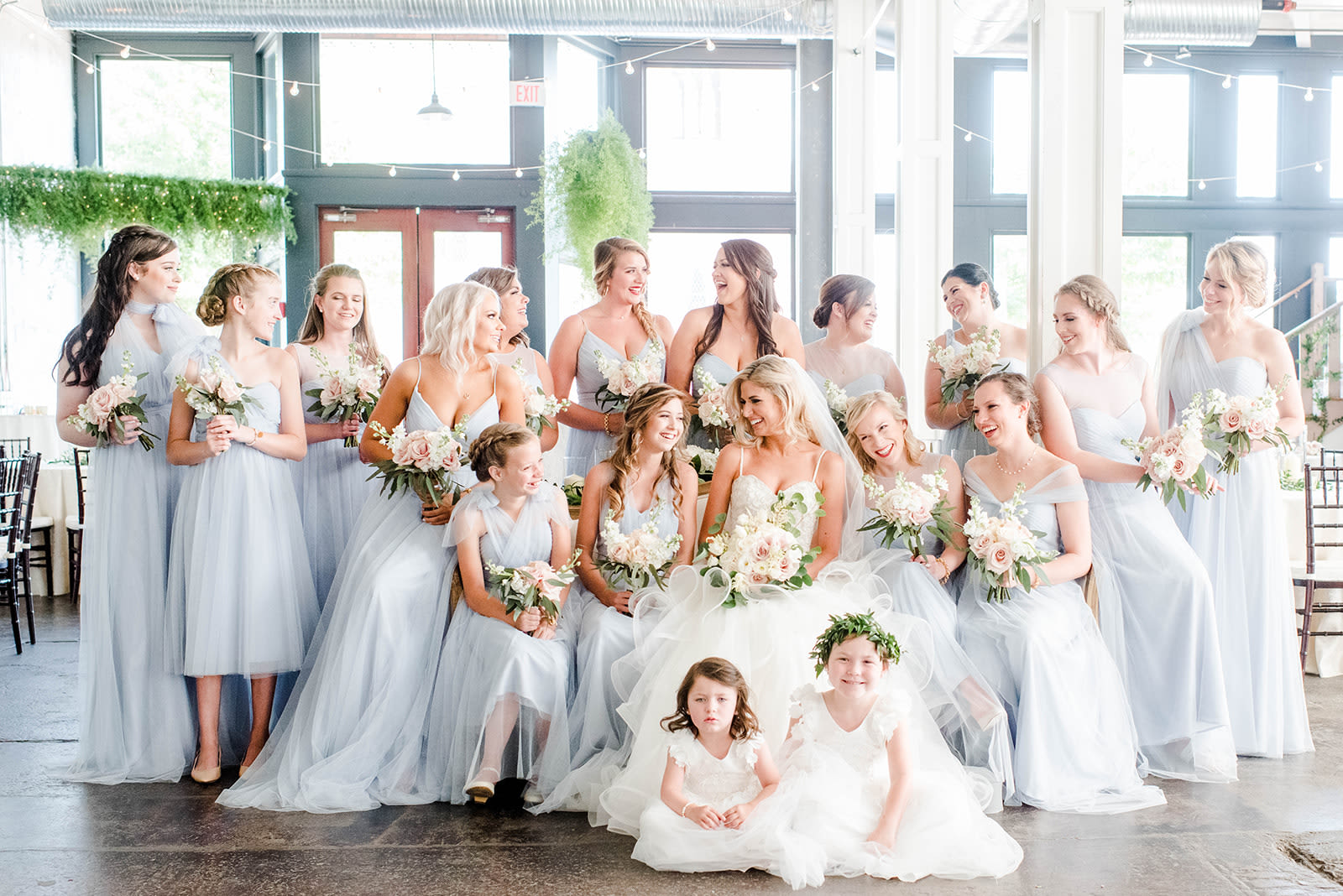 Whisper Blue Tulle Bridesmaids