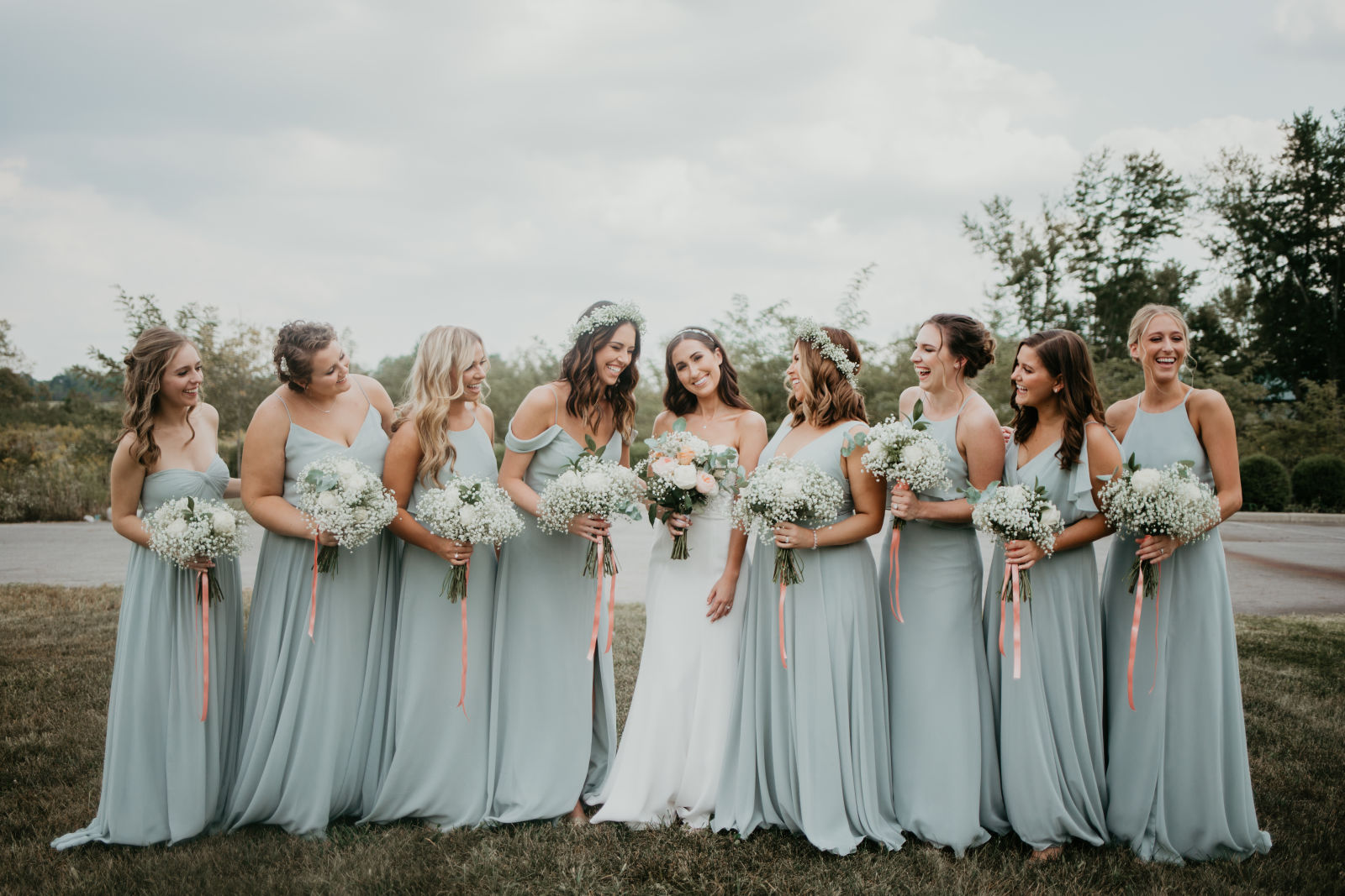 Bridesmaids in Morning Mist