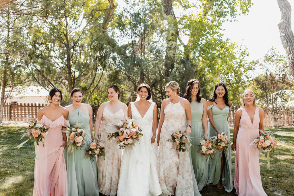 Ranch Wedding with the Lela Gown and Soft Hues