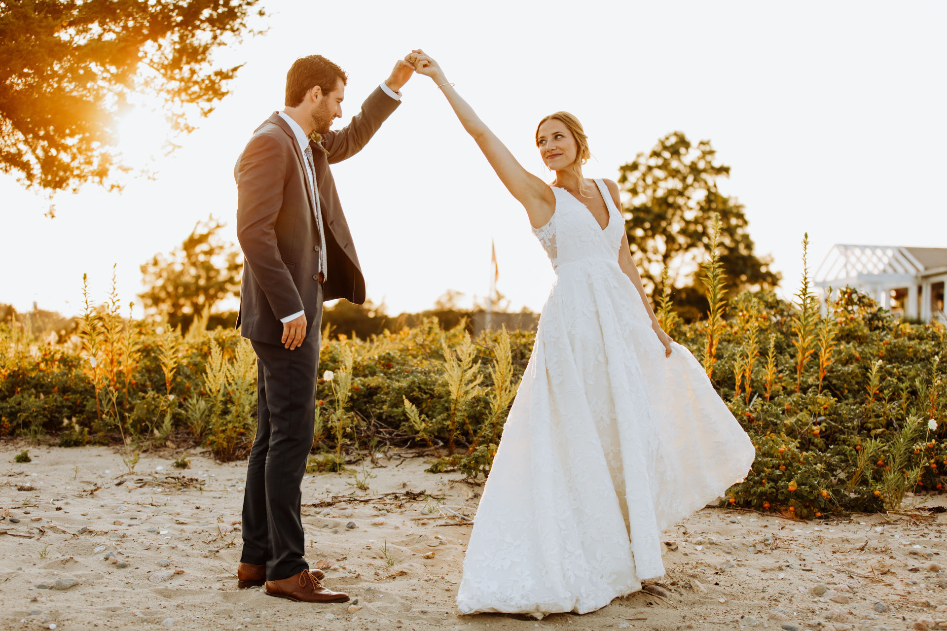 Coastal Wedding with the Lela Gown