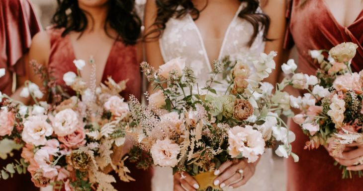 English Rose Bridesmaids in Tahoe