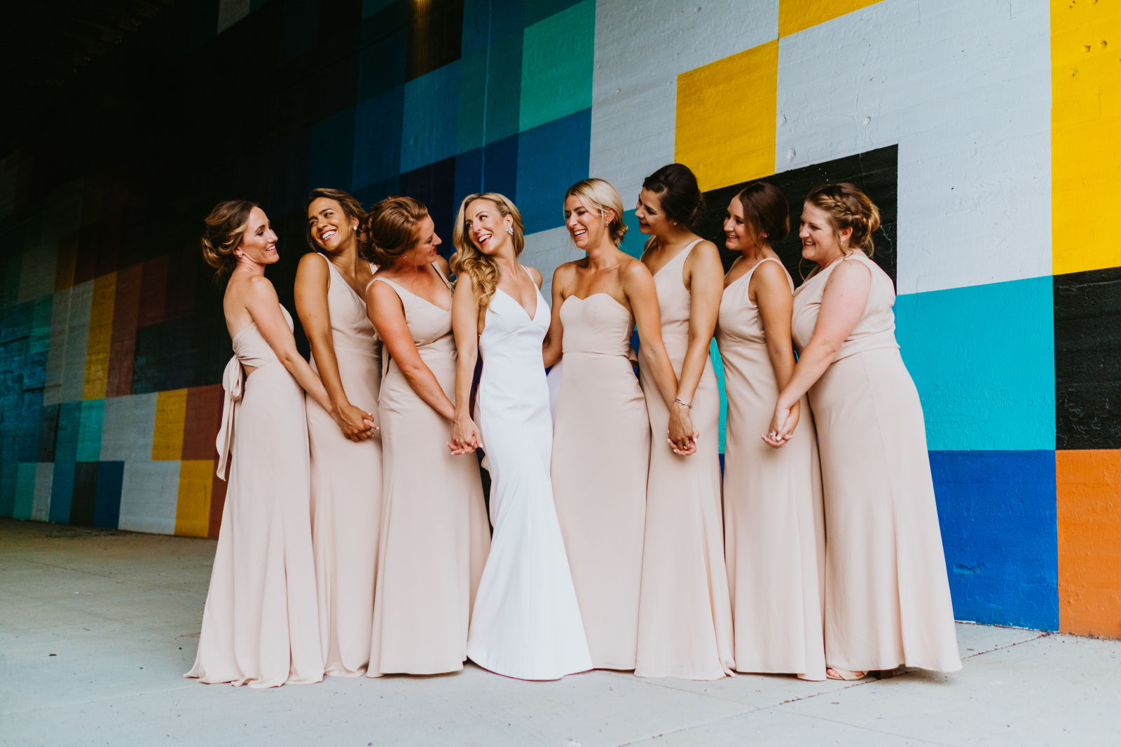 The Estelle Gown and Chai Bridesmaids