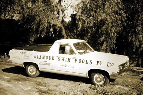 glamour swim pools service vehicle photo