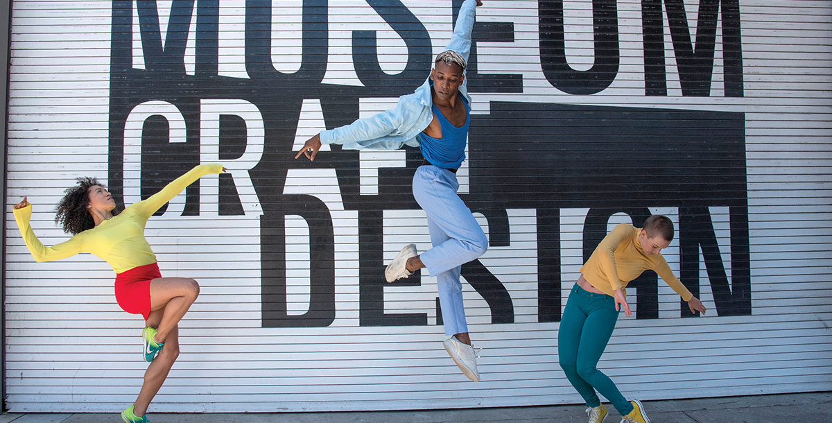 From left, Post Ballet's Jenna Marie, Landes Dixon and Emily Hansel for SF Trolley Dances. Photo by Andy Mogg.