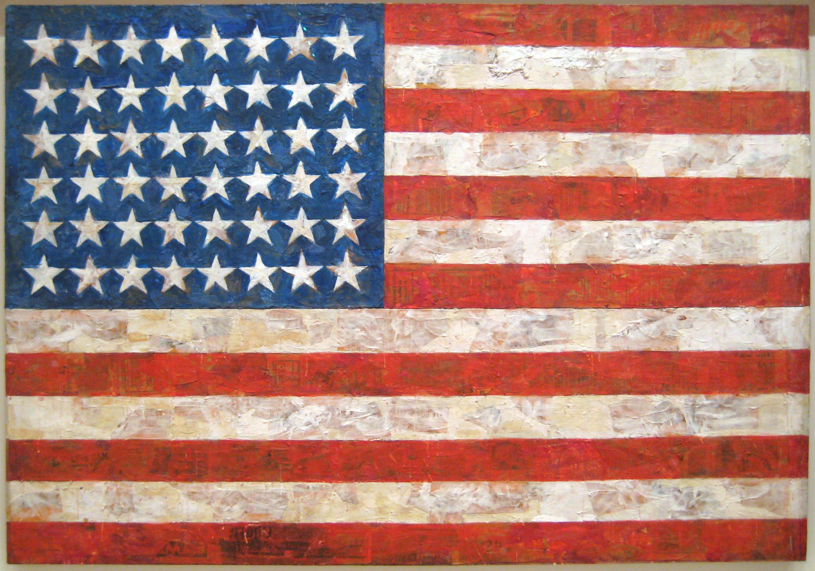Jasper Johns: Flag (1954)