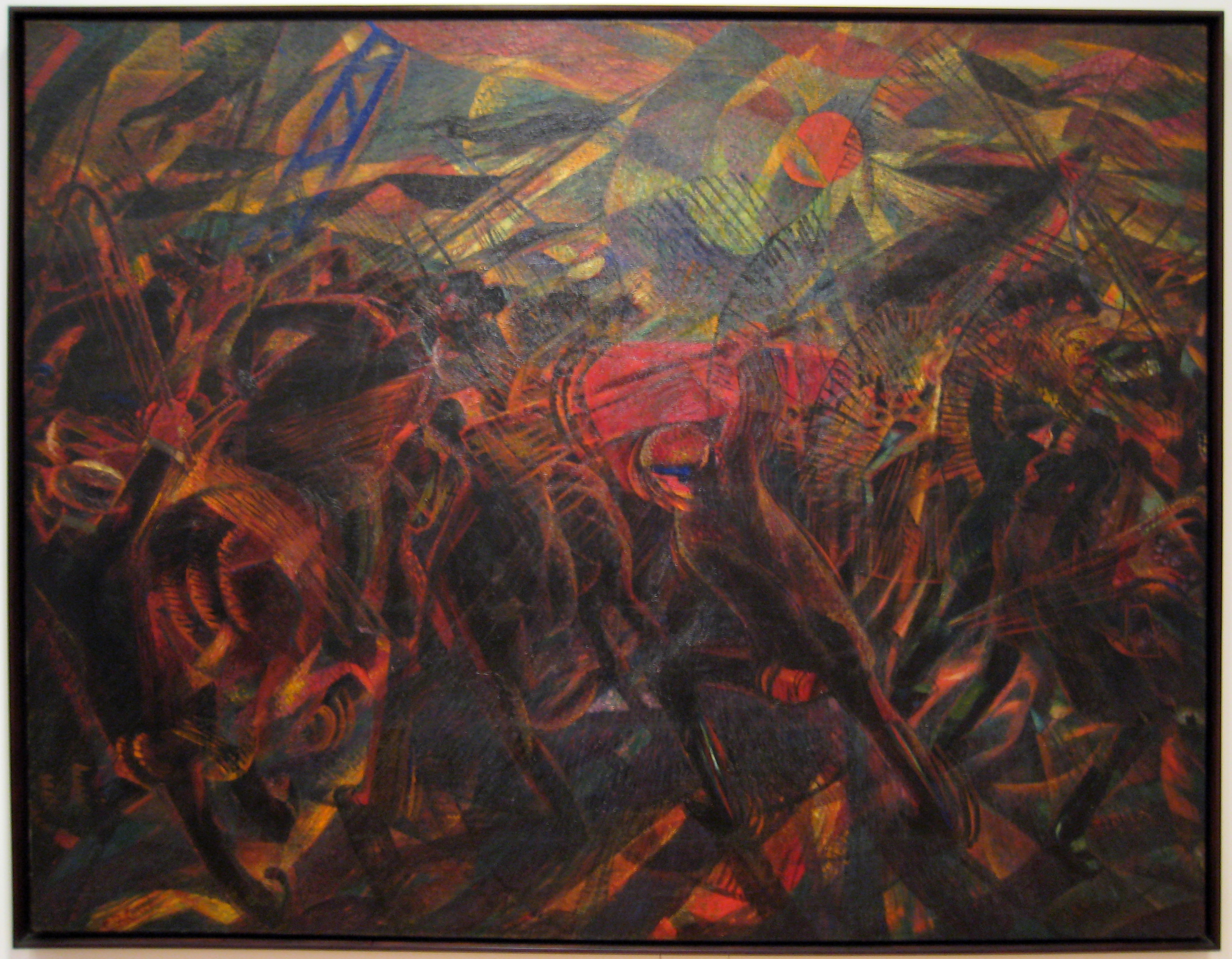Carlo Carrà: Funeral of the Anarchist Galli (1910-11)