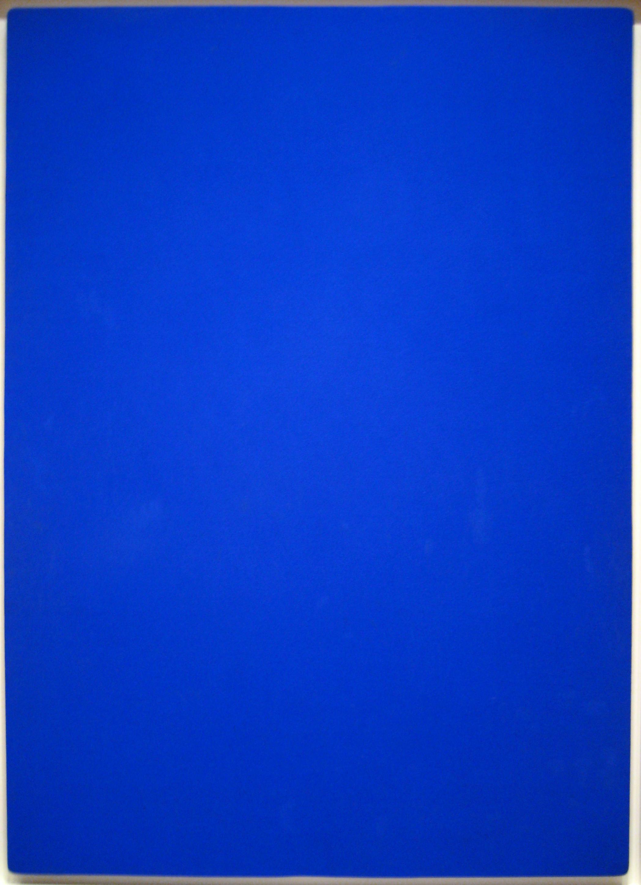 Yves Klein: Blue Monochrome (1961)