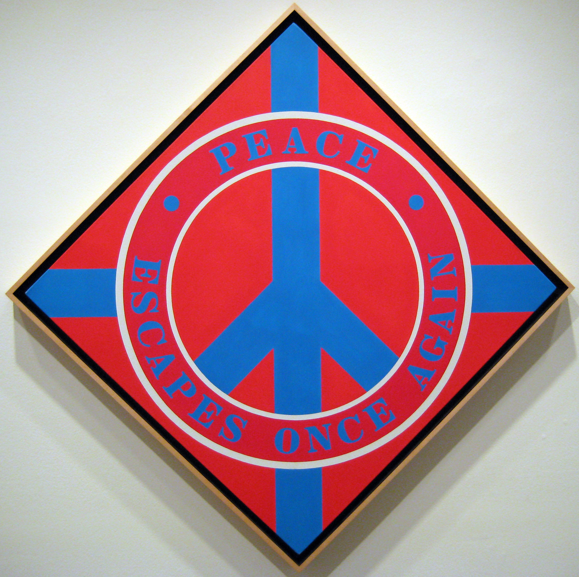 Robert Indiana: Peace Escapes Once Again (2003)