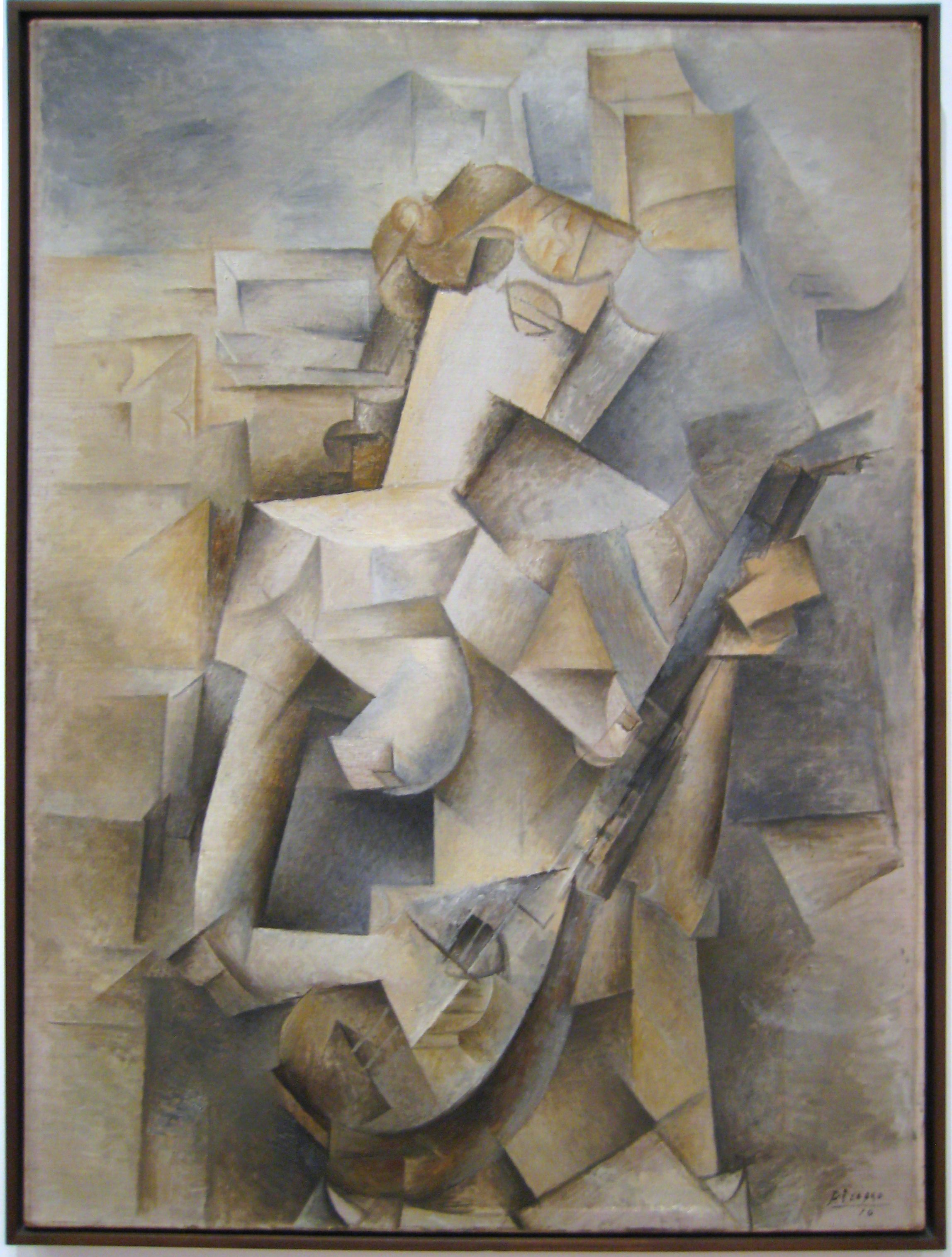 Pablo Picasso: Girl with a Mandolin (Fanny Tellier) (1910)