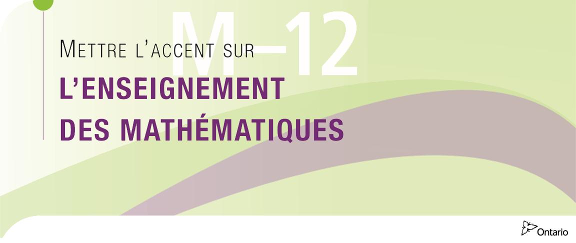 Mettre l'accent sur l'enseignement des mathématiques, M-12