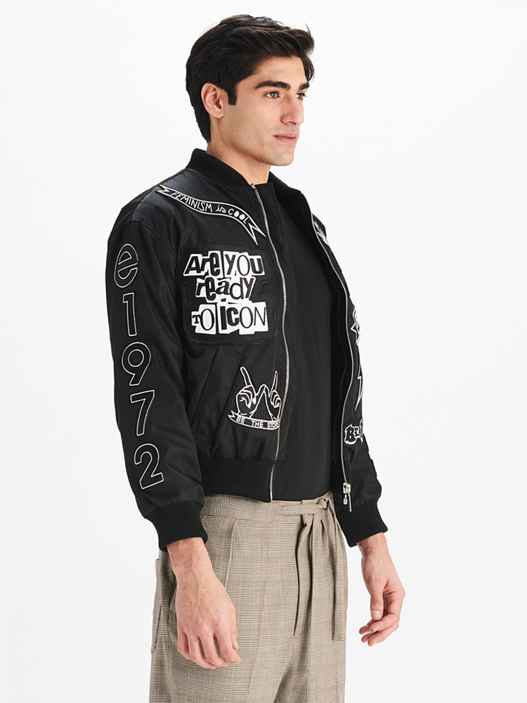 LOOK01 MENS BOMBER JACKET 01