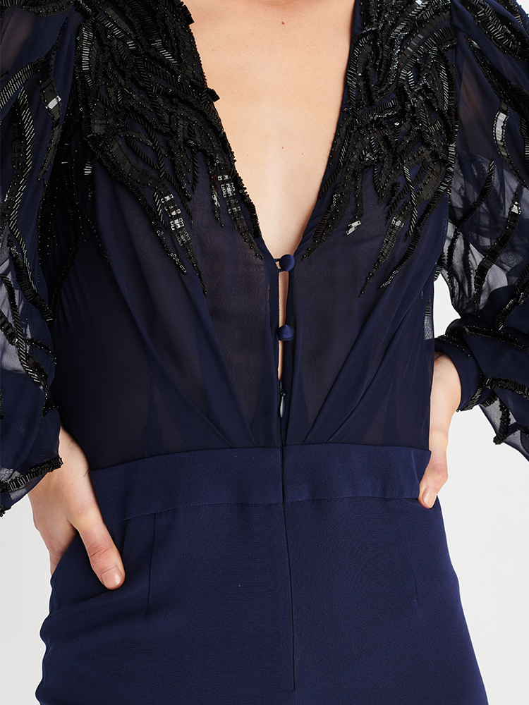 LOOK23 P1 EMBELLISHED JUMPSUIT NAVY 04