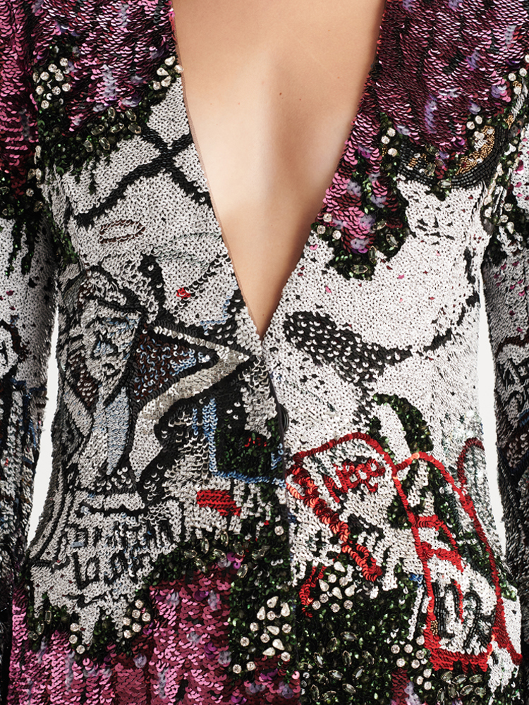 LOOK42 P1 GRAFFITI SEQUIN BLAZER 03