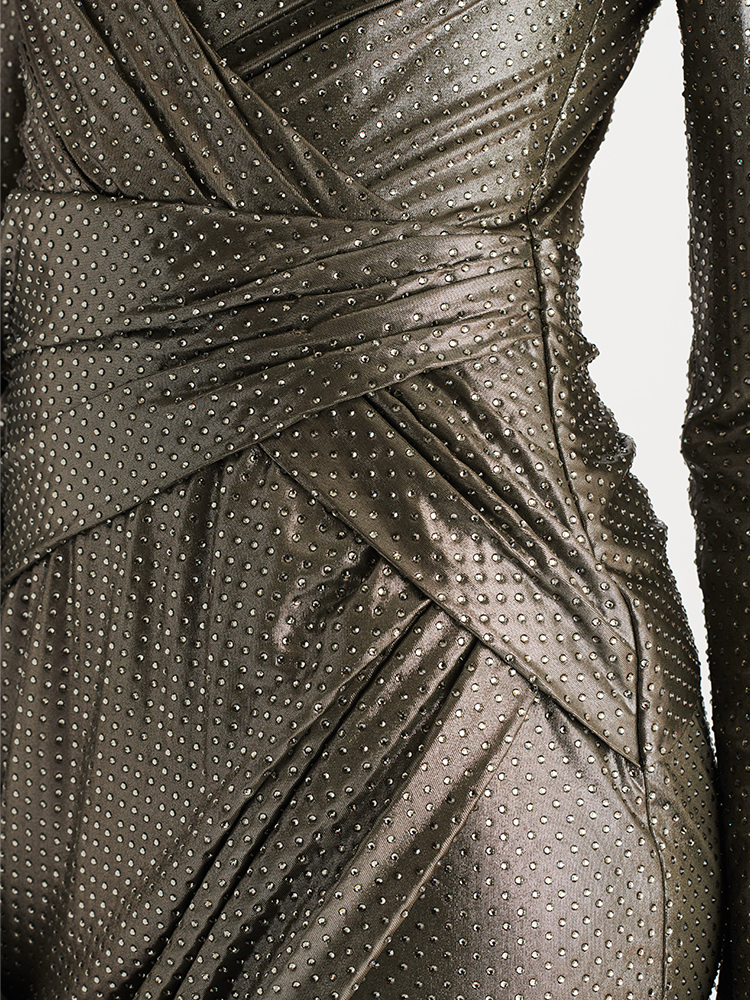 LOOK14 P1 CRYSTALLIZED WRAP DRESS SILVER 04