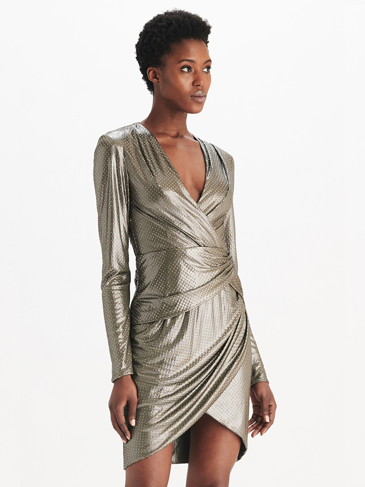 LOOK14 P1 CRYSTALLIZED WRAP DRESS SILVER 01