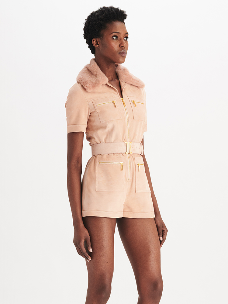 LOOK06 P1 SUEDE ZIP ROMPER BLUSH 01