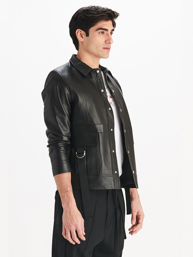 LOOK05 MENS SAFARI JACKET BLACK 02