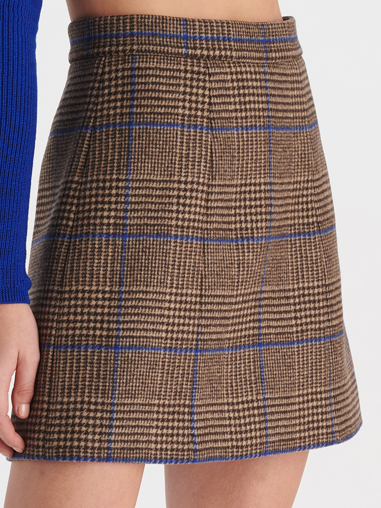 LOOK35 P2 PLAID MINI SKIRT GREY 04