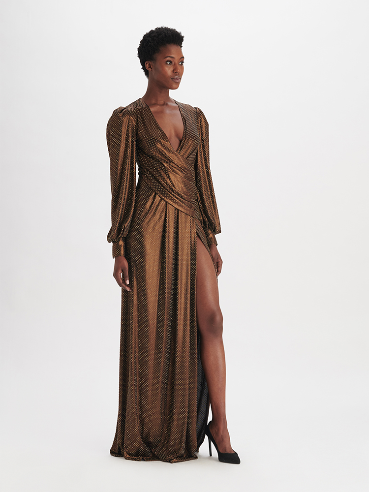 LOOK17 P1 CRYSTALLIZED WRAP GOWN BRONZE 01