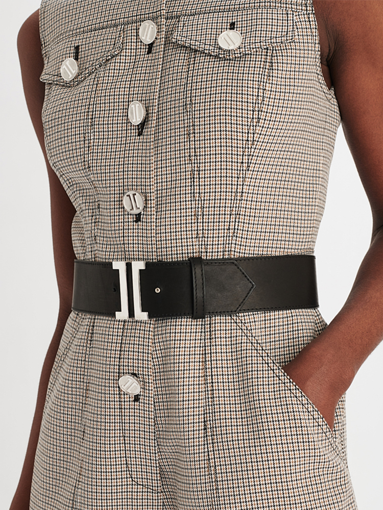 LOOK28 P1 HOUNDSTOOTH ROMPER GREY 04