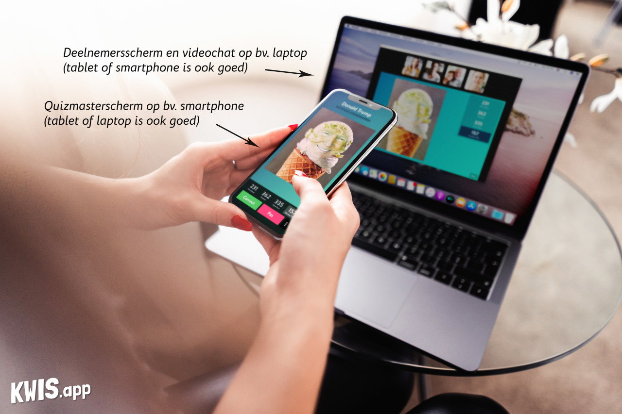 Videochat en quizzen met Kwis.app