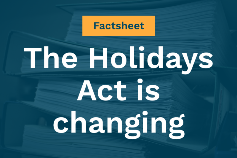 FACTSHEET: The Holidays Act is changing. Here's what you need to know. | Blog