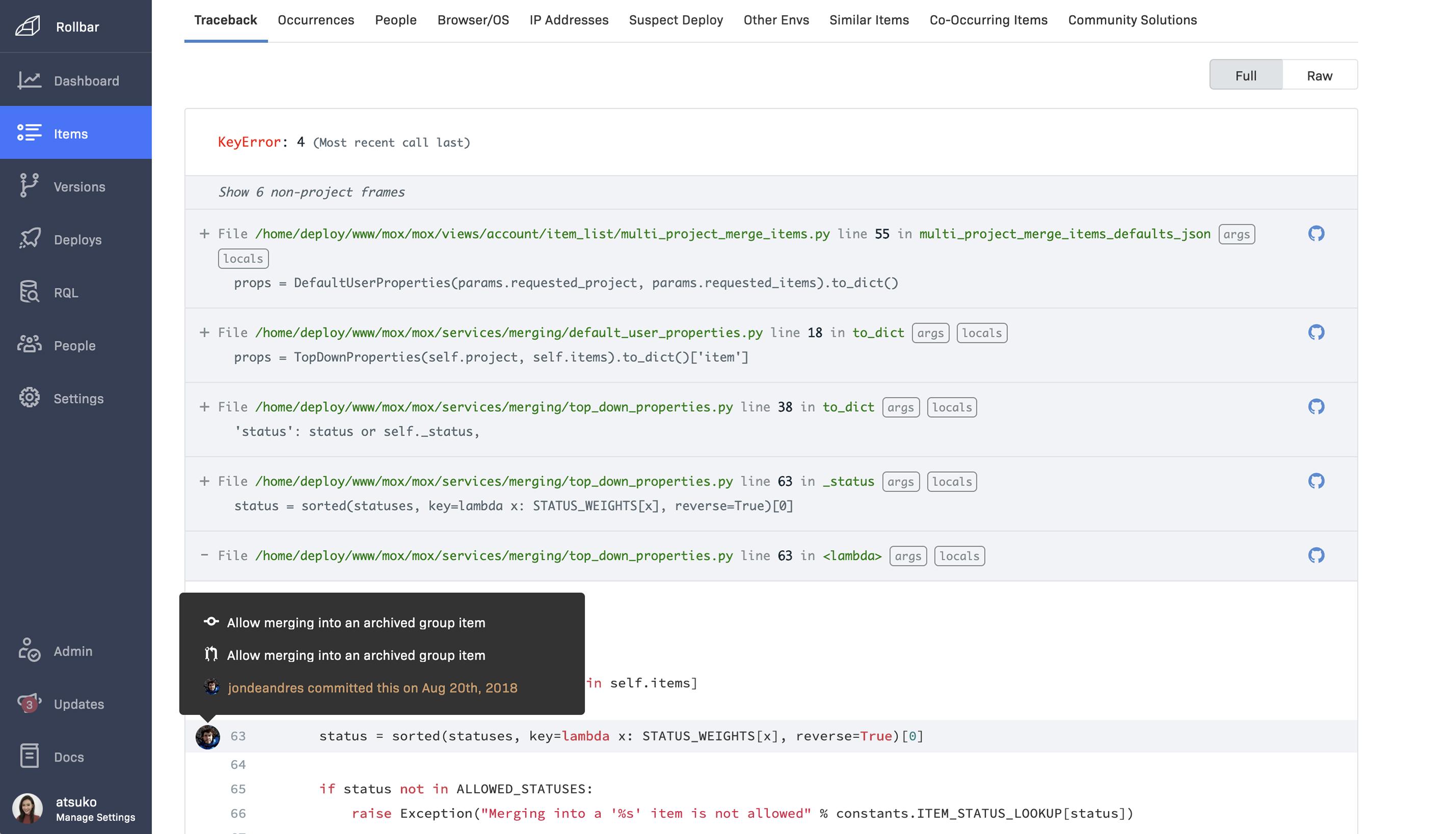 Git blame code-context