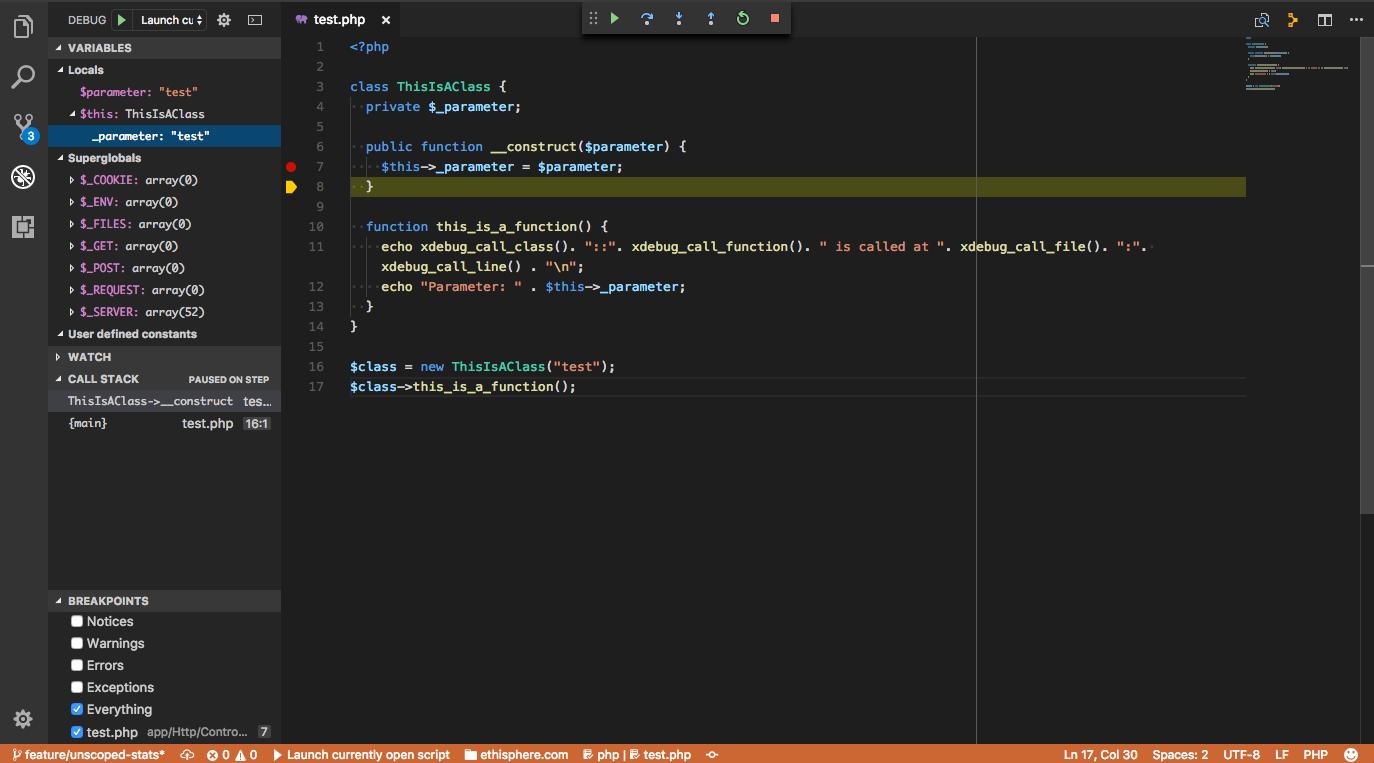 Visual Studio Code XDebug Integration