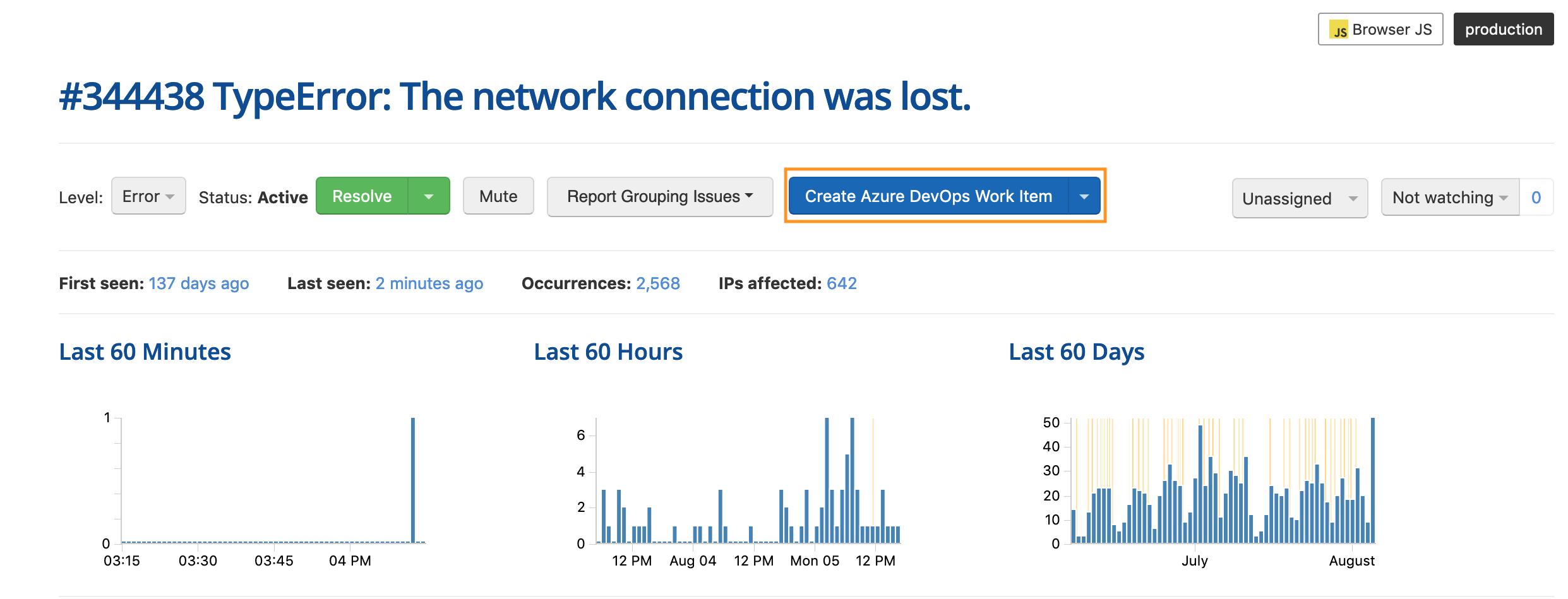 New Integration - Create Microsoft Azure DevOps Work Items
