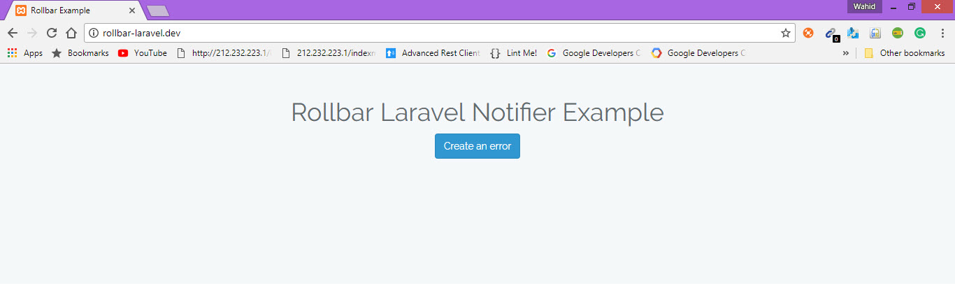 Laravel error reporting now available