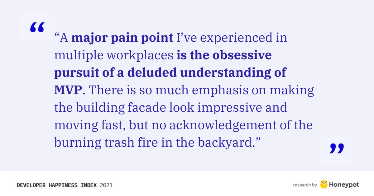"""A major pain point I've experienced..."""