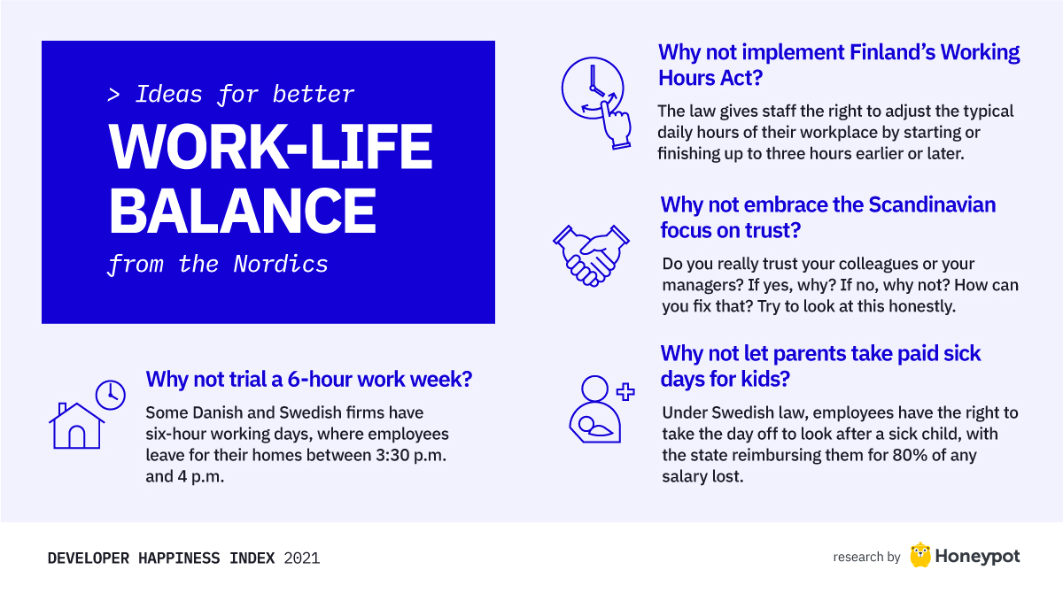 Ideas for better work-life balance