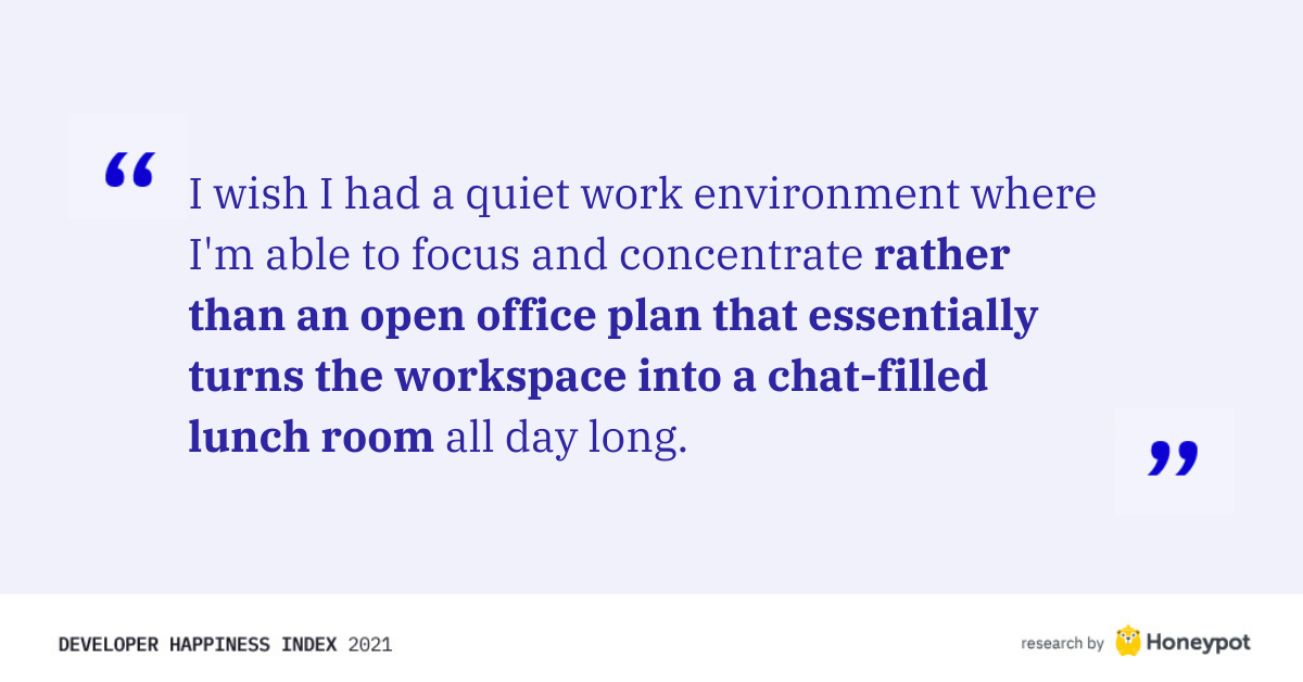 """Rather than an open office plan..."""