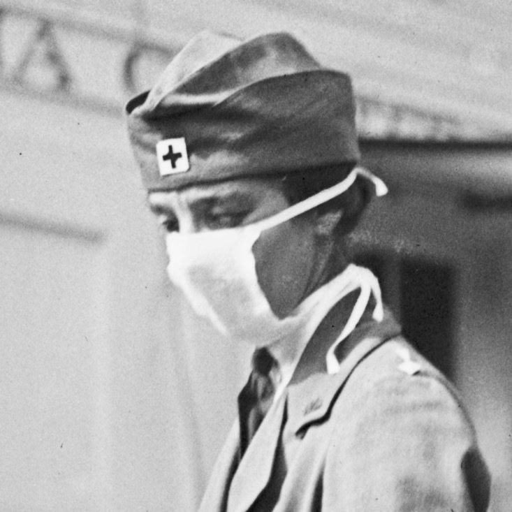 Nurse in mask