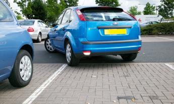 video reverse bay parking diagonal method