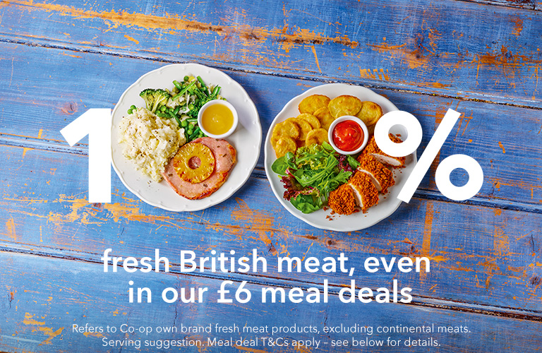100% British meat all year round