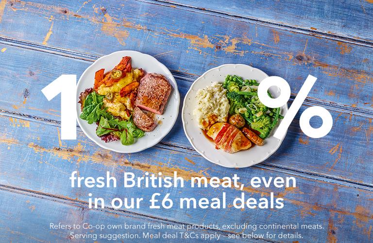 100% British meat all year round