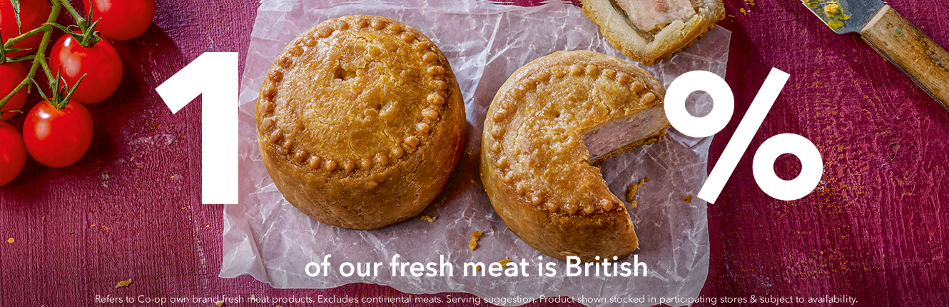 100% of our fresh meat is British