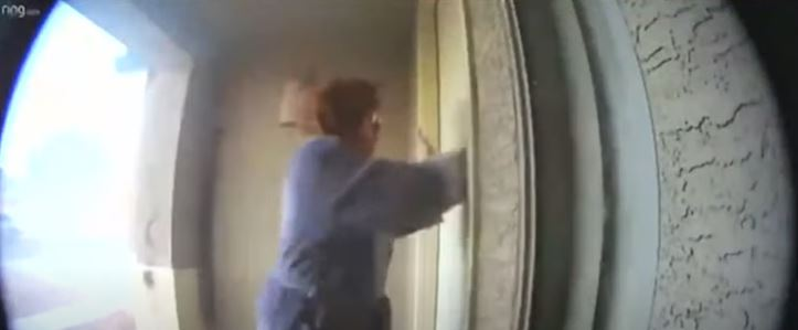 kobieta uratowała dom