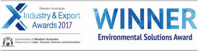 WA Export awards 2017 winner Environmental Solutions category banner