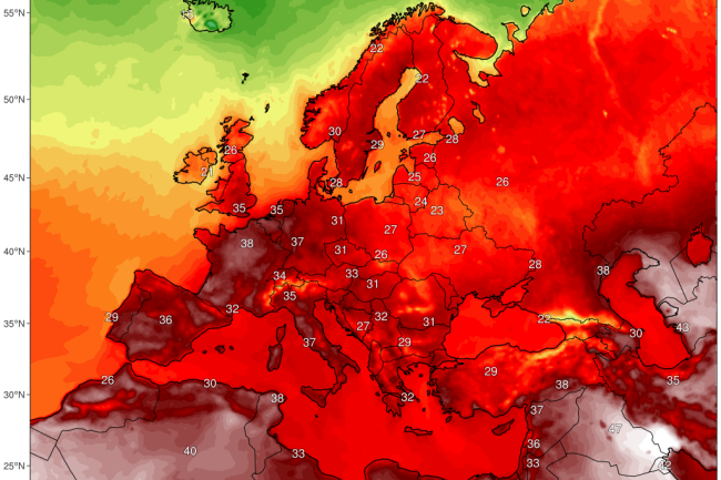 Europe Temp Prediction Map - Climate Reanalyzer