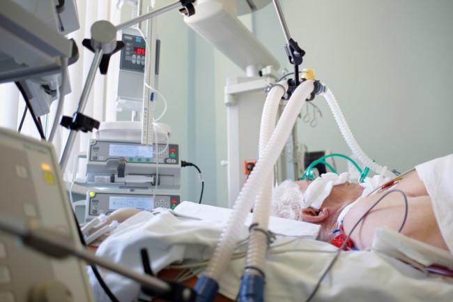 intubated patient coronavirus - shutterstock