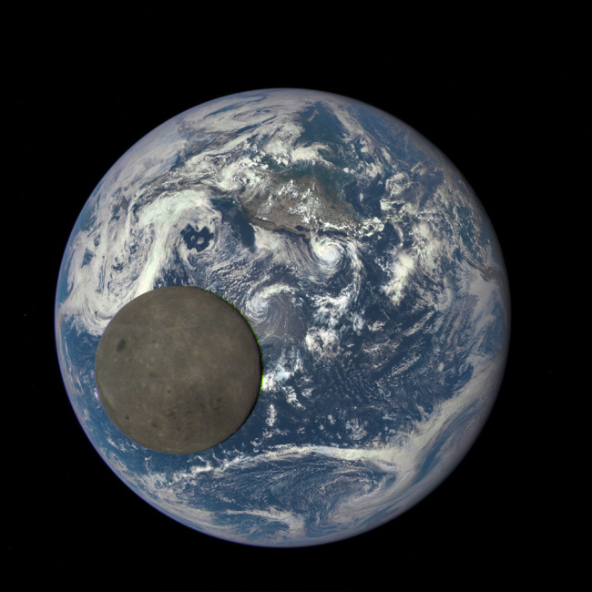 Earth and Moon, 2015 from DSCOVR - NASA