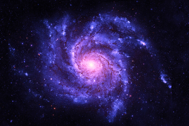 Spiral Galaxy - Elements of This Image Furnished by NASA - shutterstock 560802985