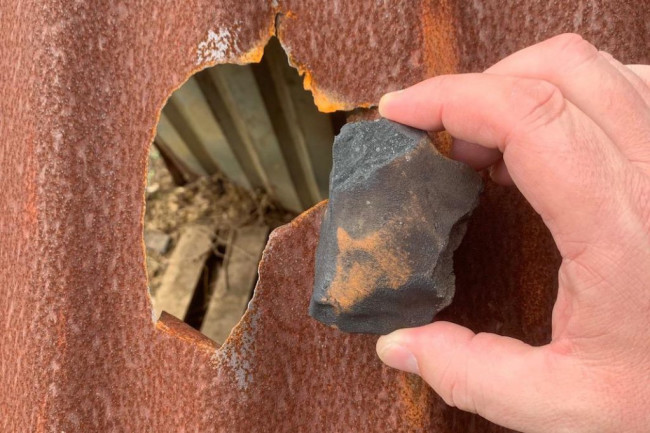 Meteorite and Hole in Roof - Michael Farmer