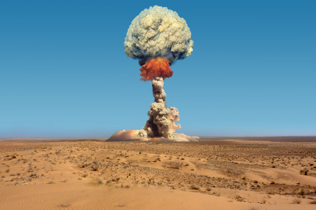Nuclear Bomb Explosion - Shutterstock