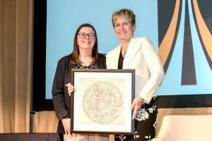Whitson winning award - Adler Planetarium