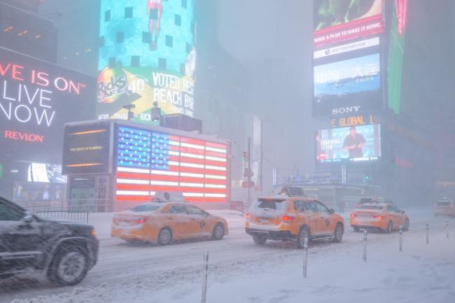 NYC snowstorm shutterstock 366463112 stock