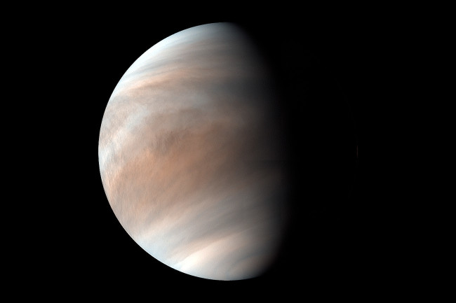 Something is cooking in the clouds of Venus. Could it be microbial life? (Credit: JAXA/Planet-C Project Team)