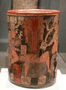 A Maya vessel showing a scene of sacrifice. (Credit: Dallas Museum of Art/Wikimedia Commons)